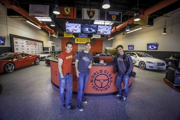 The cast of 'Jersey Boys' at World Class Driving's Dream Garage. Photos: Vik Chohan Photography