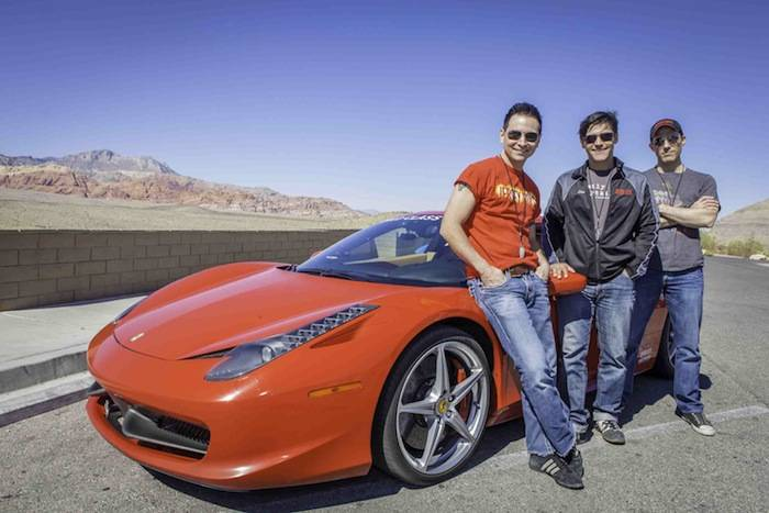 Jersey Boys cast with a Ferrari 458; Photo Credi Vik Chohan Photography.jpg