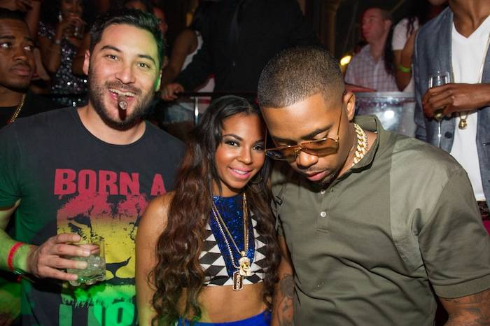 Nick Sakai, Ashanti and Nas at Tao. Photos: Brenton Ho/Powers Imagery LLC