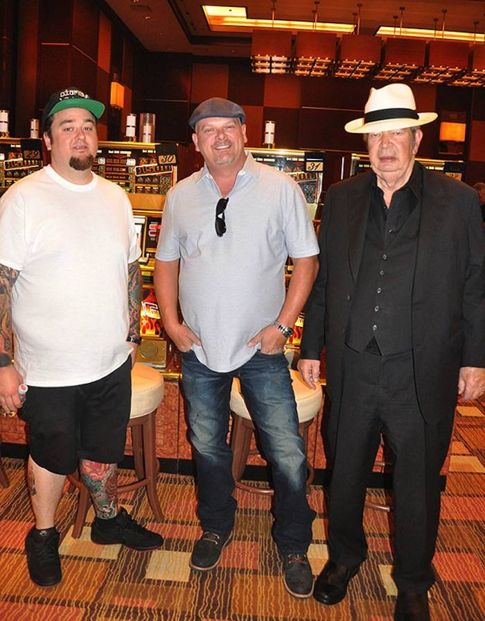 Chumlee, Rick Harrison and The Old Man at the Golden Nugget.