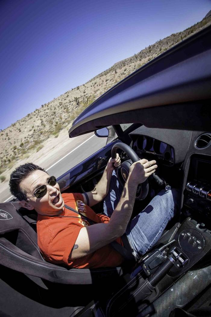 Travis Cloer driving a Lamborghini LP570 Spyder; Photo Credit Vik Chohan...