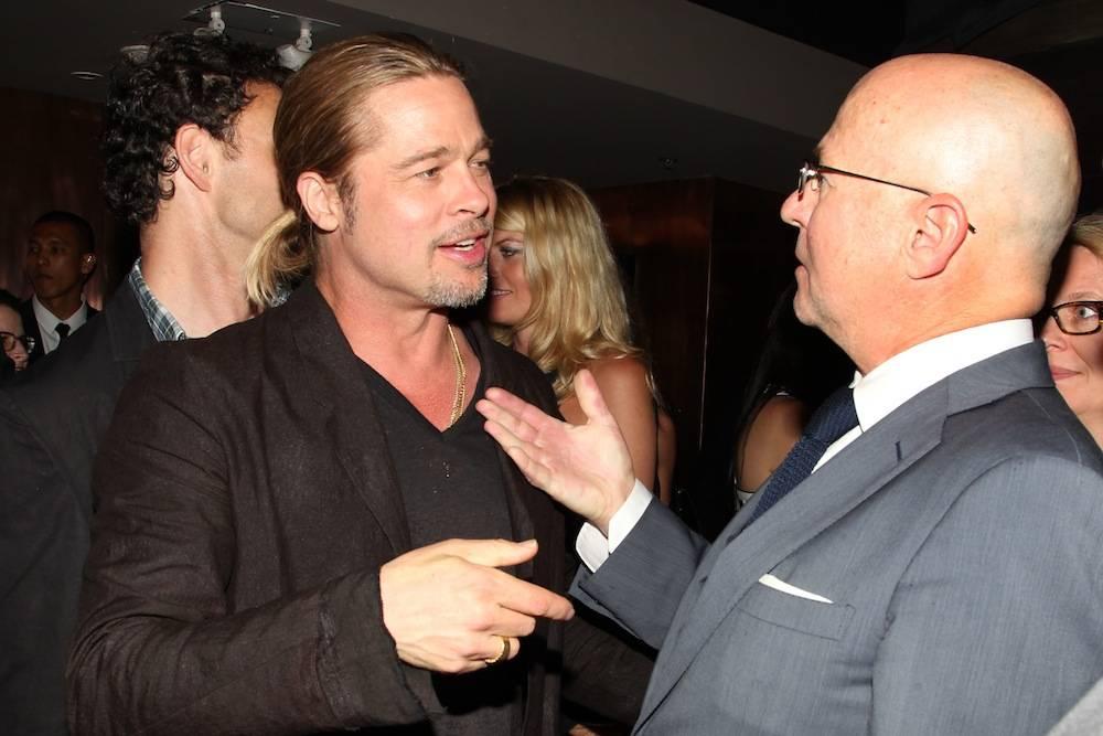 Brad Pitt and David Granger