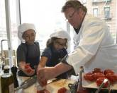 David Burke Teaches Children to Cook Healthy Meals at The James Hotel