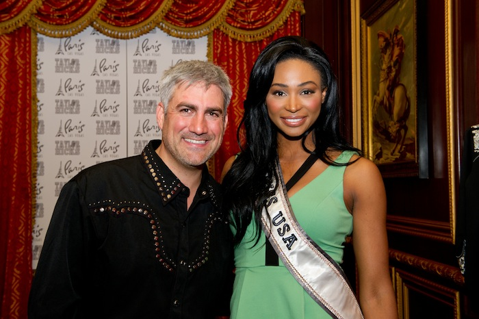 Paris Las Vegas headliner Taylor Hicks with Miss USA 2012 Nana Meriwether. Photos: Darren Decker