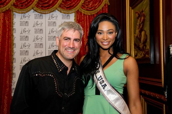 Paris Las Vegas headliner Taylor Hicks with Miss USA 2012 Nana Meriwether. Photos: Darren Decker