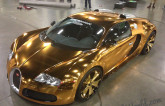 Miami Rapper Flo Rida Wraps Bugatti Veyron In 24-Karat Gold