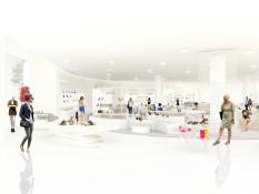 Nordstrom Americana Shoes department rendering