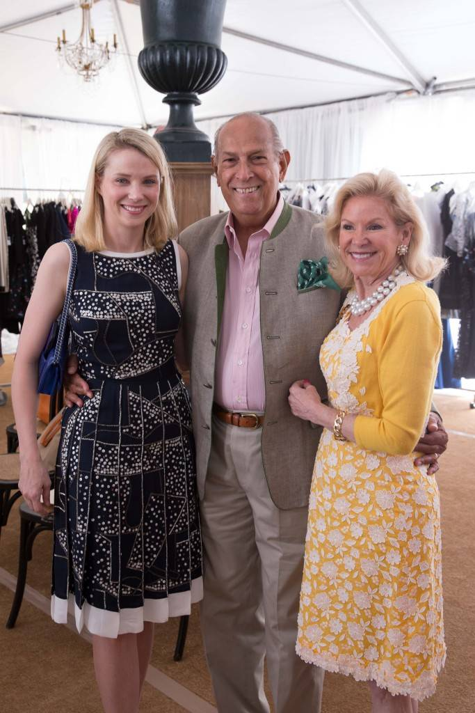 Marissa Mayer, Oscar de la Renta and Dede Wilsey.  Credit: Drew Altizer Photography