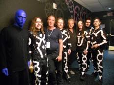 Wang Chung's Nick Feldman and Jack Hues attend Blue Man Group.