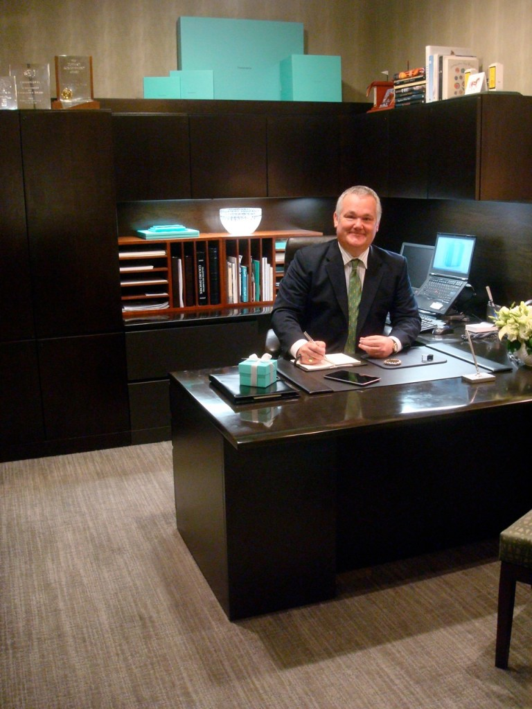 Brian Neel busy at work at Tiffany & Co.