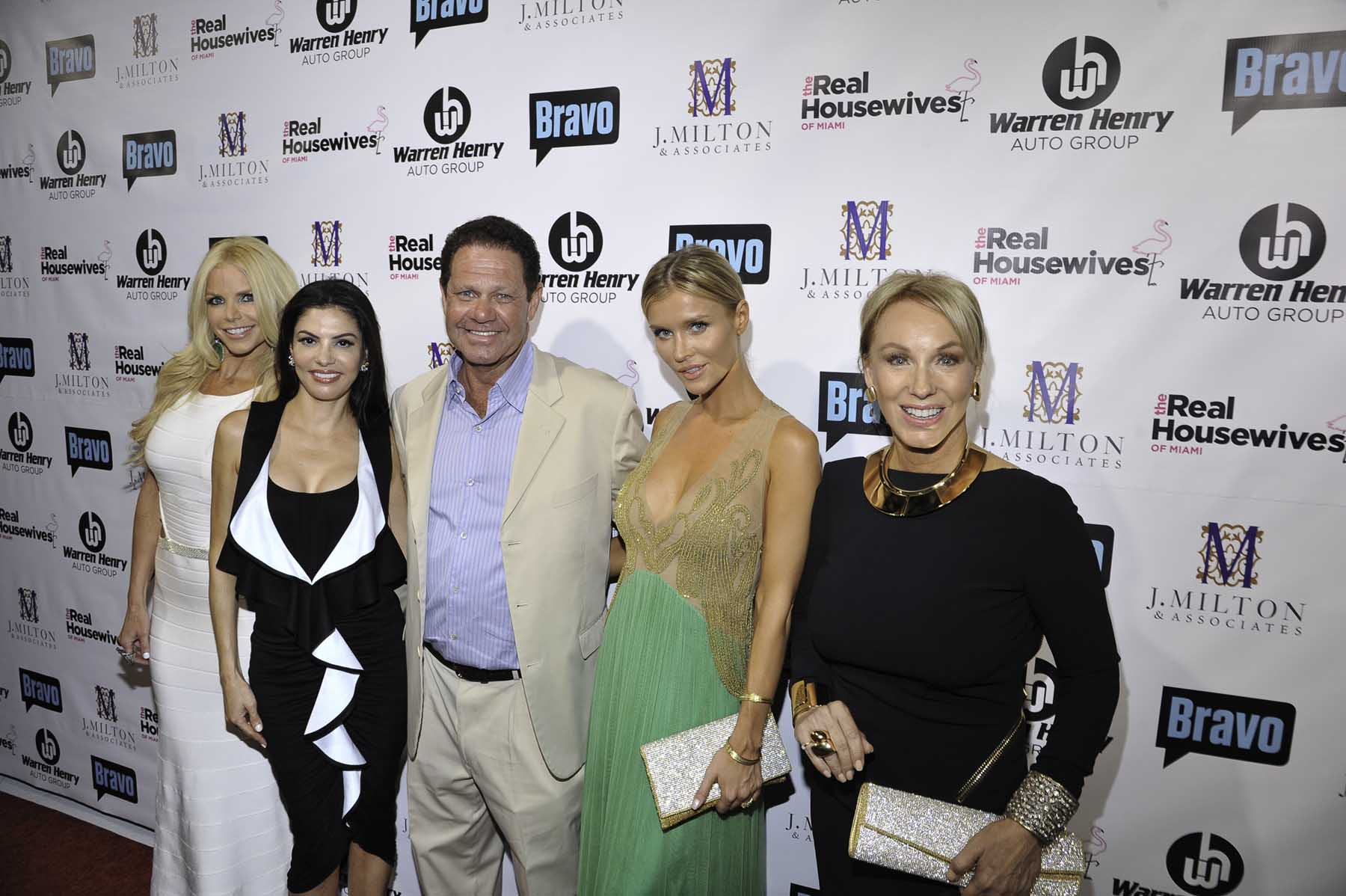 Alexia Echevarria; Adriana De Moura; Warren Henry Zinn, President and CEO of Warren Henry Auto Group; Joanna Krupa and Lea Black