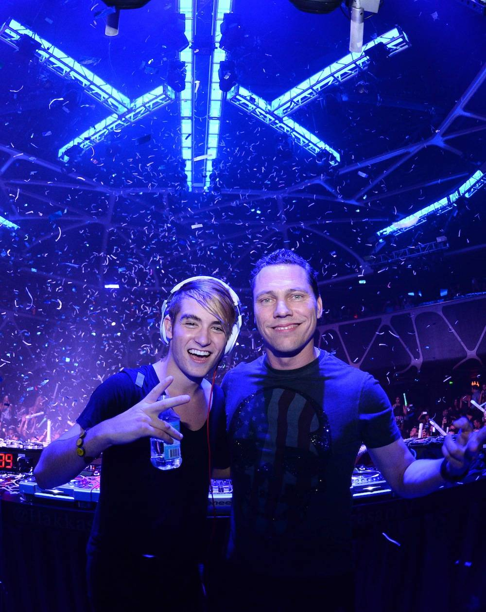 Danny Avila and Tiesto. Photos: Al Powers/Powers Imagery