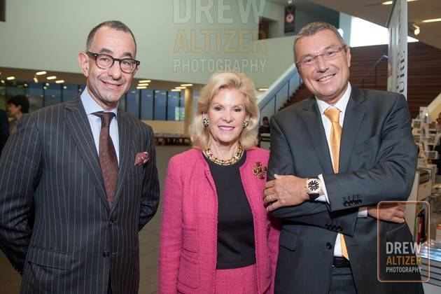 Colin Bailey (Director of the Fine arts Museums of San Francisco), Philanthropist Dede Wilsey, and Bulgari CEO, Jean-Christophe Babin Photo: drewaltizer.com