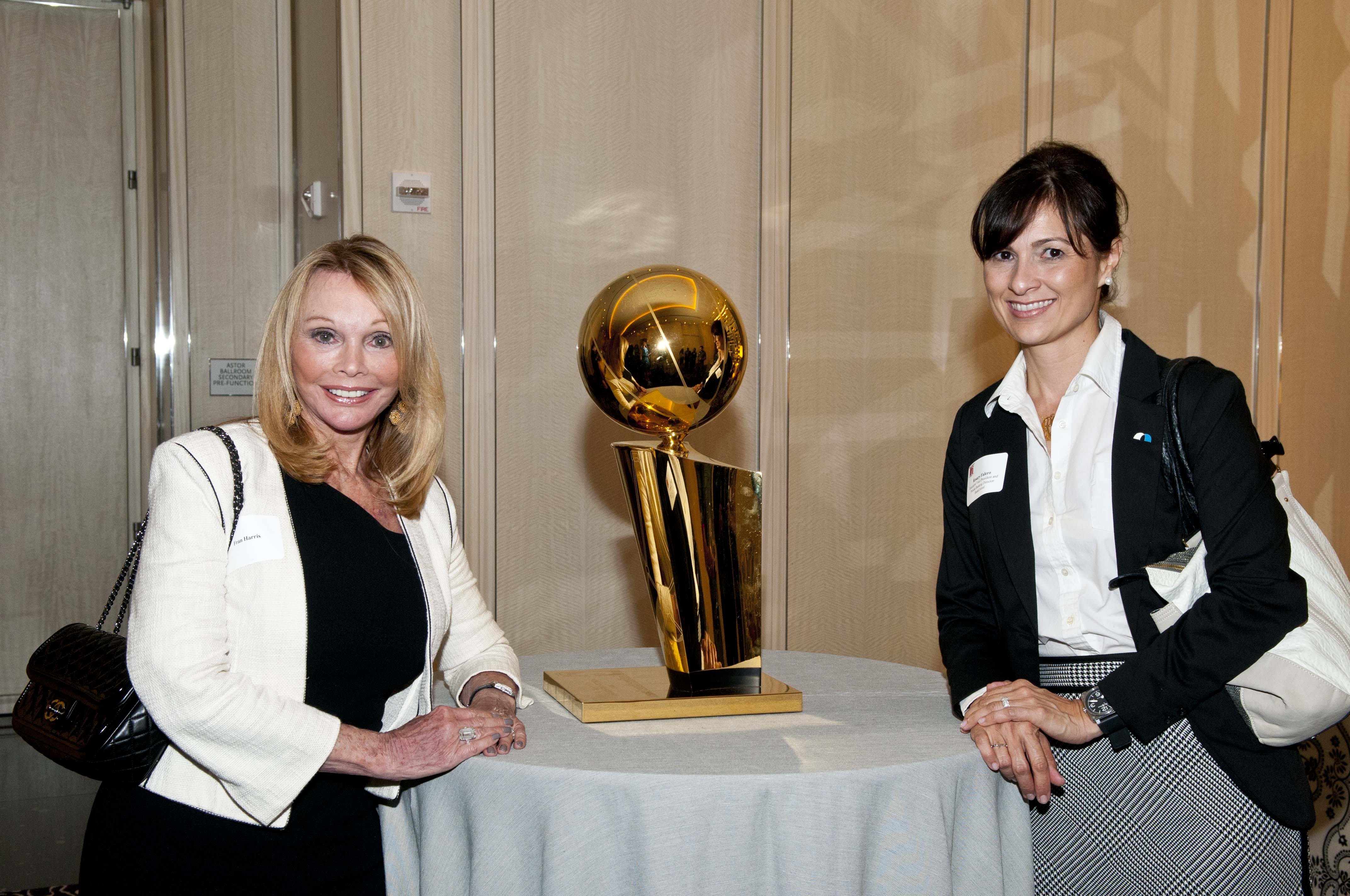 Fran Harris & Rosary Falero with 2012 HEAT Championship Trophy