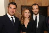 President of Vacheron Constantin, Huges de Pins, Benjamin Millepied and Natalie Portman