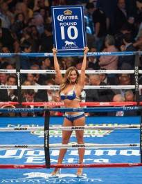 Jaime Lynch as Ring Girl Round 10 Mayweather v. Canelo 9-16-13
