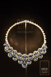 Necklace, 1955, Platinum with sapphires and diamonds Photo: drewaltizer.com