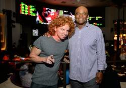 Carrot Top and Warren Moon