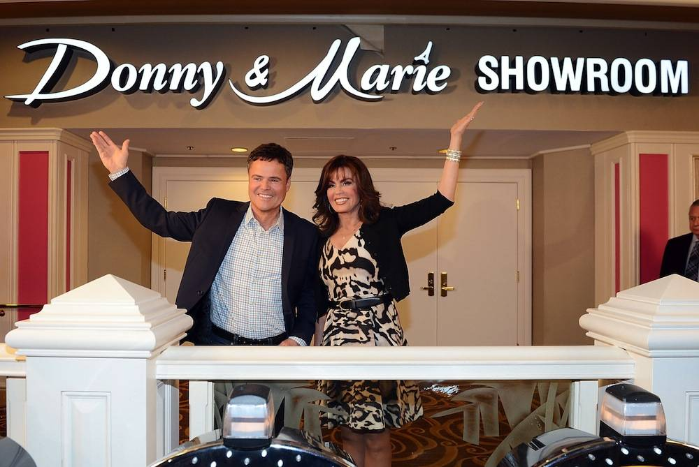 Donny & Marie Osmond celebrate the renaming of their showroom at Flamingo Las Vegas to The Donny & Marie Showroom. Photos: Denise Truscello/WireImage