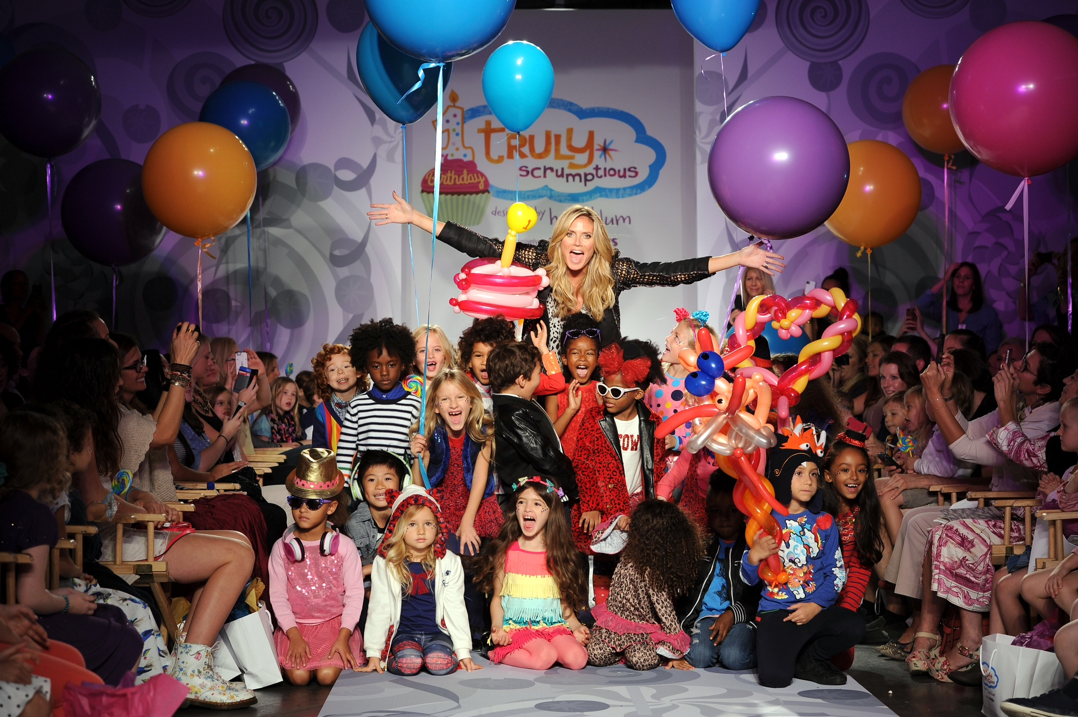 "Heidi Klum Presents Her Holiday Truly Scrumptious Collection For Babies""R""Us At Kids Fashion Week In NYC"