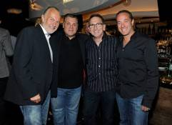 Chefs Hubert Keller, Francois Payard, Rick Moonen and Bruce Bromberg attend the kick off for the Life is Beautiful Festival at the Nobu Restaurant and Lounge Caesars Palace. Photo: David Becker/WireImage