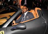 LeBron James behind the wheel of a Ferrari 458