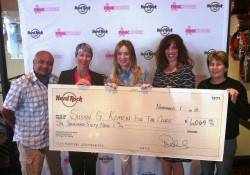 Veronic and Hard Rock Cafe Make Donation to Susan G. Komen for the Cure 11.7.13