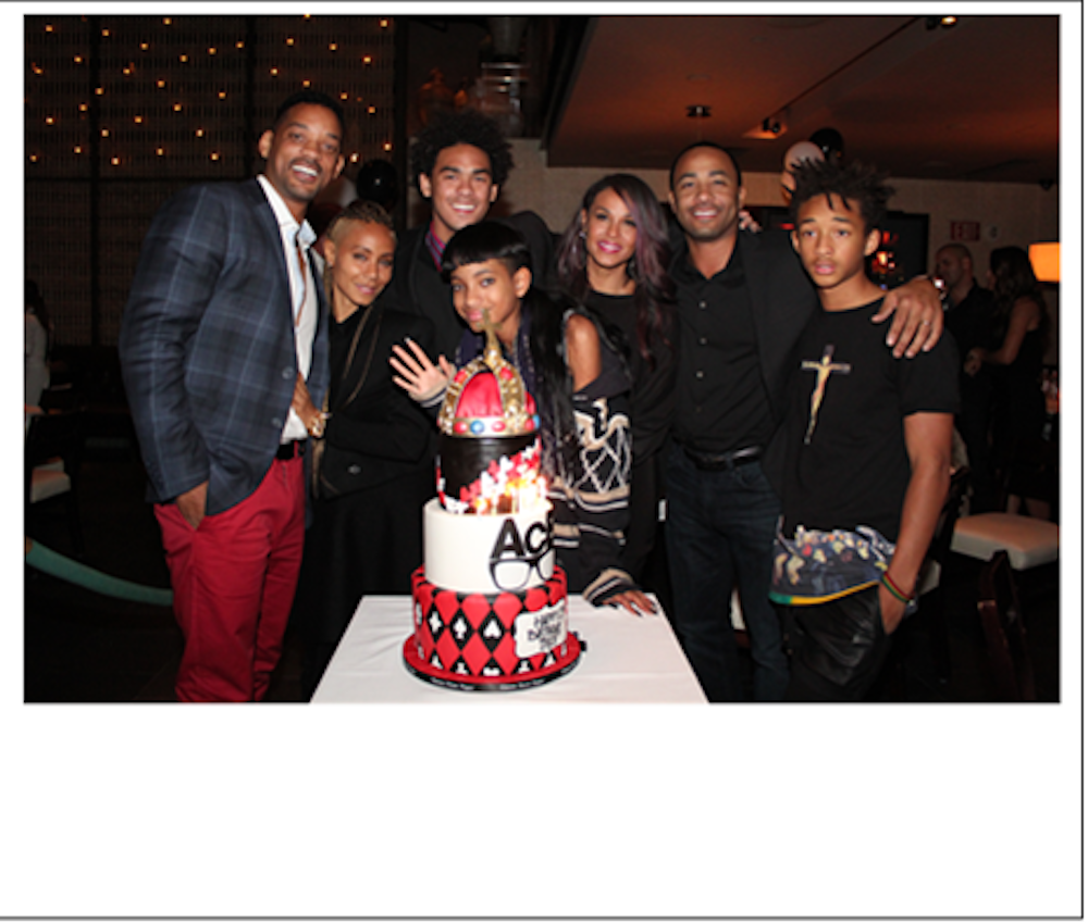 Will Smith, Jada Pinkett Smith, Trey Smith,Willow Smith, Sheree Zampino, Terrell Fletcher, Jaden Smith at LAVO credit Mishalene Bloom