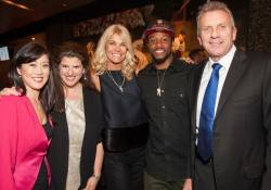 Kristi Yamaguchi, Amy Wender-Hoch, Jennifer Montana, Taiwan Jones and Joe Montana  Credit: Drew Altizer Photography