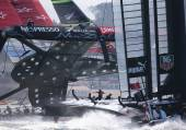 Team Emirates New Zealand  nearly capsized on Sept. 15.