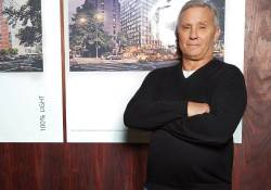 Ian Schrager in his West       Village office