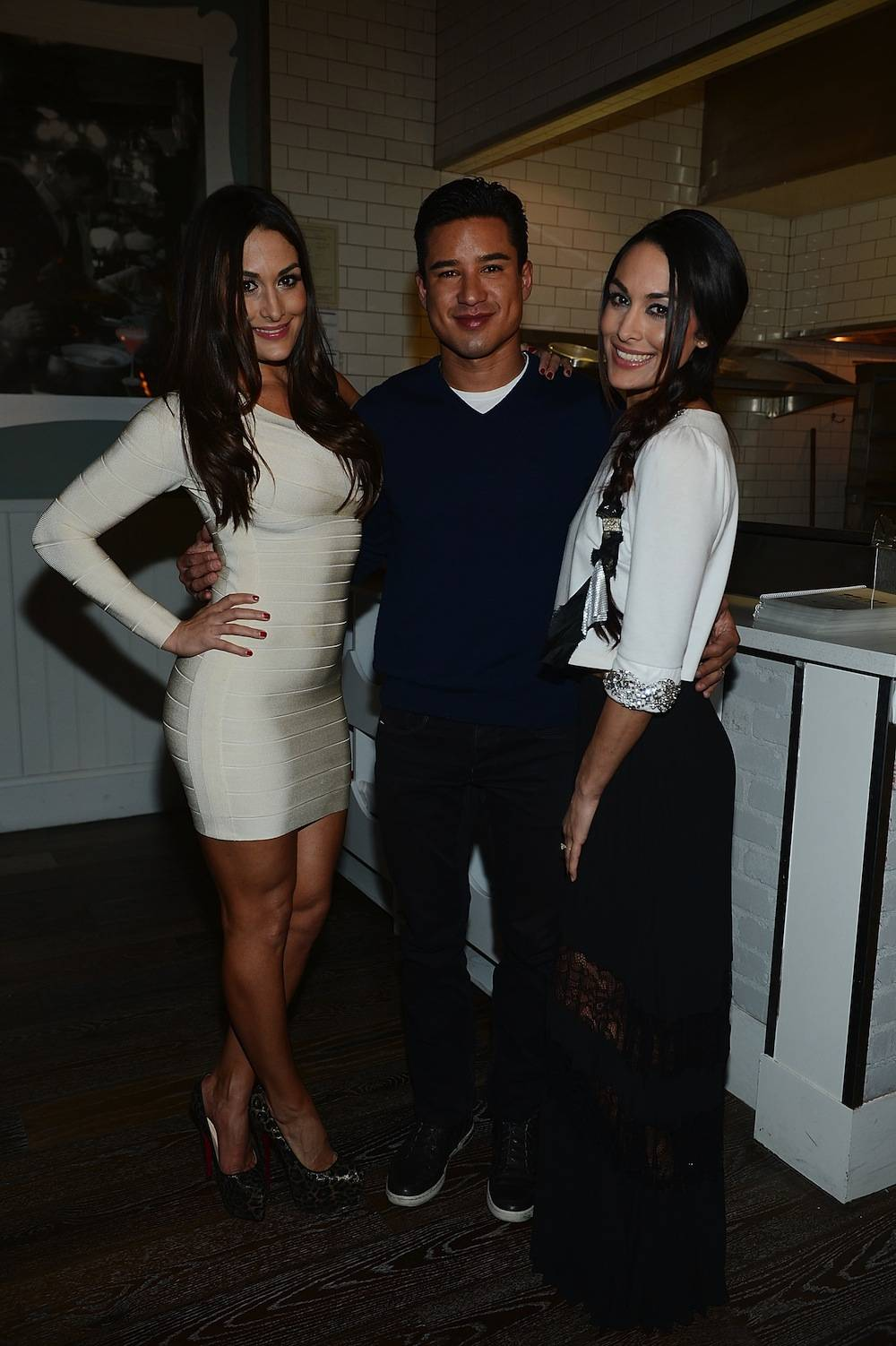 Mario Lopez And The Bella Twins Celebrate Sugar Factory's Grand Opening At Town Square Las Vegas