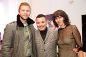 Marc Jacobs' Luis Cortes and Joann Calonico with LUXETIGERS' Victor Vargas