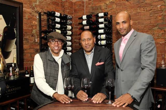 Kevin Liles, Frank Ski and Boris Kodjoe at last year's Celebrity Wine Tasting and Live Auction. Photo by Ben Rose Photography