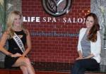 Miss Nevada USA Chelsea Caswell and Miss USA 2011 Alyssa Campanella at LifeSpa+ Salon by Michael Boychuck. Photos: Georgina Vaughan