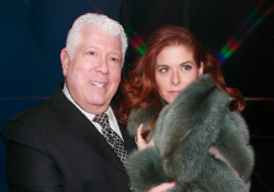 Dennis Basso and Debra Messing