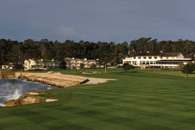 one of the most luxurious resort hotels in Northern California -- The Lodge at Pebble Beach