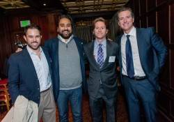 Hosain Rahman, Trevor Traina and Lt. Gov Gavin Newsom