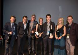 Billy Bush, Colin Farrell, John Lee Hancock, Brenda Lhormer, Miles Teller, Dianna Agron and Marc Lhormer
