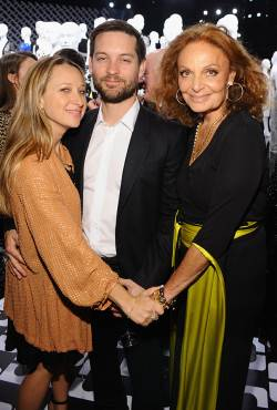 Jennifer Meyer,  Tobey Maguire and  Diane Von Furstenberg