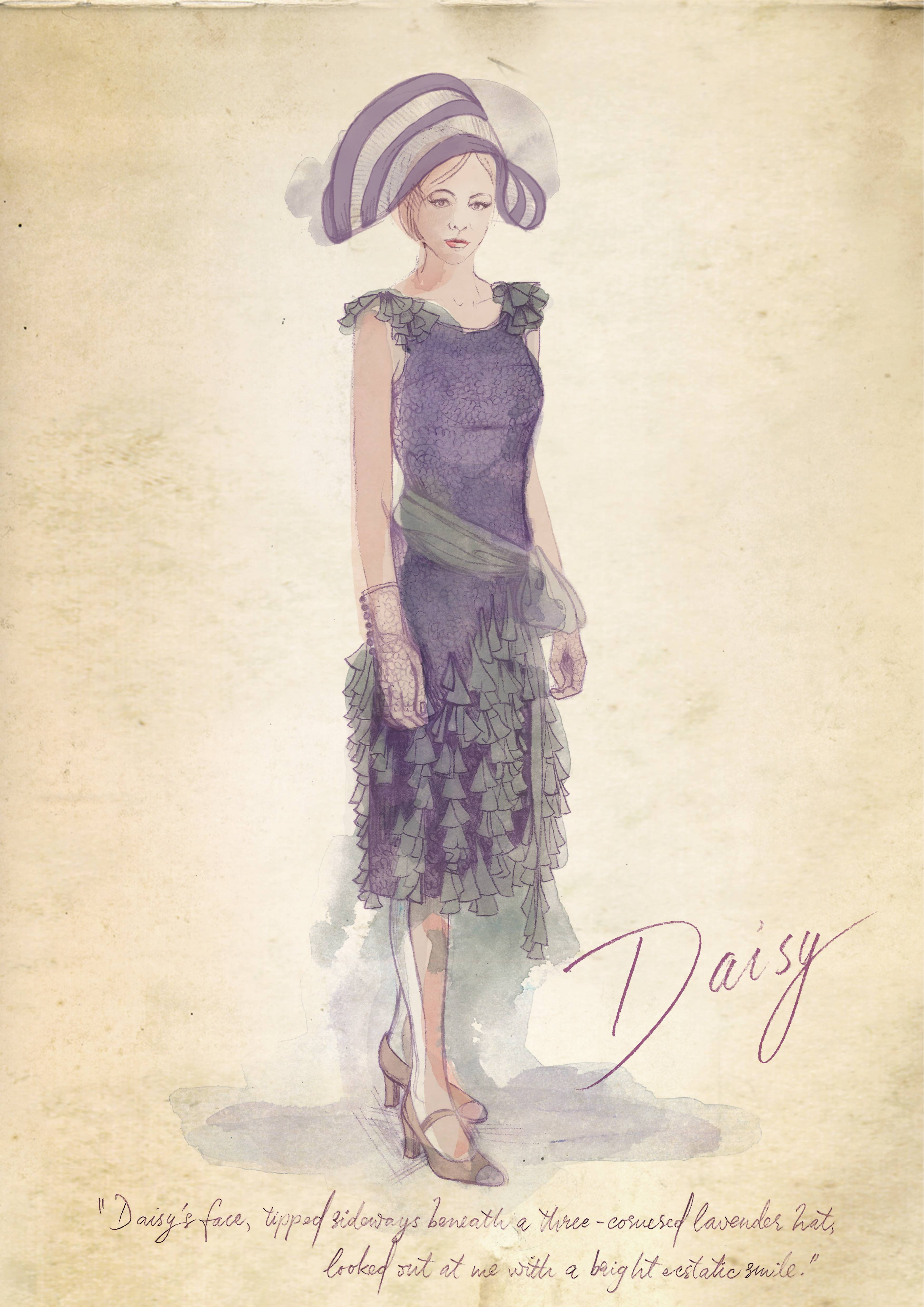 2. DAISY LAVENDER HAT