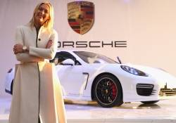Maria Sharapova attends Porsche presentation at the Rodina Grand Hotel & Spa in Sochi