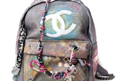 Schoolyard Chic: Chanel's Canvas Graffiti Backpack