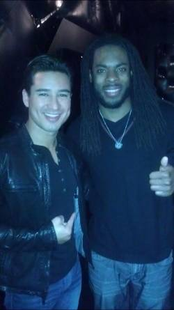 Mario Lopez and Richard Sherman at STK
