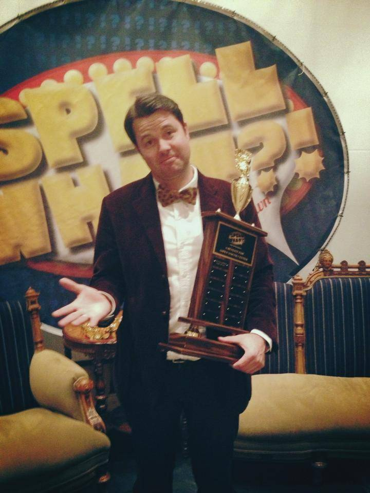 Oliver Sharpe, the 2013 winner of Spell What?!