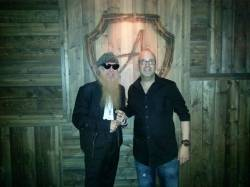Billy Gibbons at The Ainsworth with restaurant manager Tommy Ippolito low res