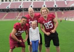 (left) Tyler Gaffney, Trent Murphy (middle), and Ryan Hewitt (right) and Finley Riley.
