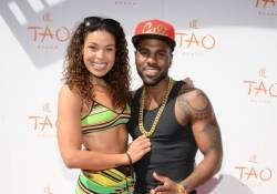 Jordin Sparks and Jason Derulo walk the Tao Beach red carpet.