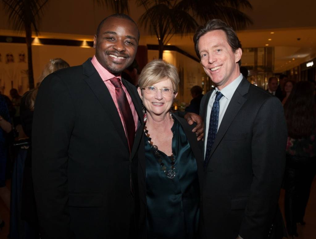 Alvin Ailey American Dance Theater Artistic Director Robert Battle with Center Executive Vice President Judy Morr and President Terry Dwyer.