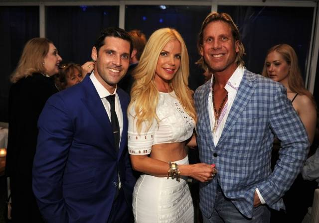 Chad Carroll, Real Housewives of Miami star Alexia Echevarria, and Steven Zelman